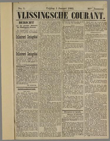 Vlissingse Courant 1892