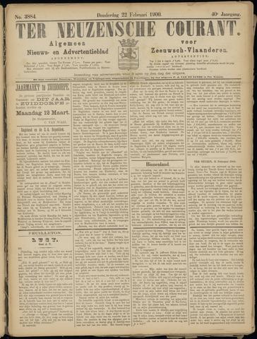 Ter Neuzensche Courant. Algemeen Nieuws- en Advertentieblad voor Zeeuwsch-Vlaanderen / Neuzensche Courant ... (idem) / (Algemeen) nieuws en advertentieblad voor Zeeuwsch-Vlaanderen 1900-02-22
