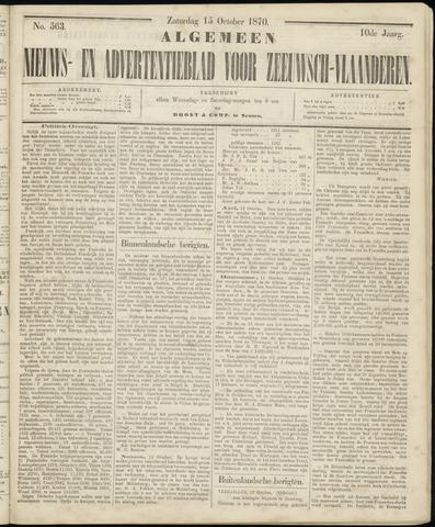 Ter Neuzensche Courant. Algemeen Nieuws- en Advertentieblad voor Zeeuwsch-Vlaanderen / Neuzensche Courant ... (idem) / (Algemeen) nieuws en advertentieblad voor Zeeuwsch-Vlaanderen 1870-10-15