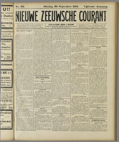 Nieuwe Zeeuwsche Courant 1919-09-30