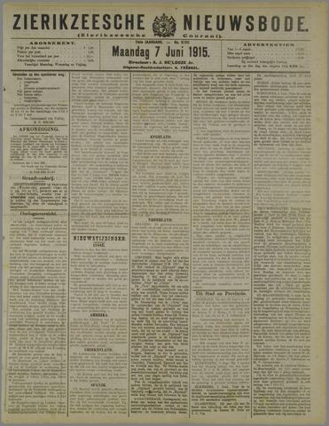 Zierikzeesche Nieuwsbode 1915-06-07