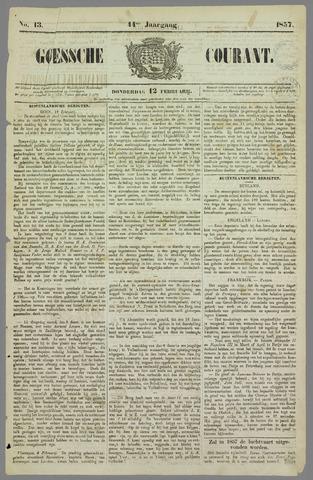 Goessche Courant 1857-02-12
