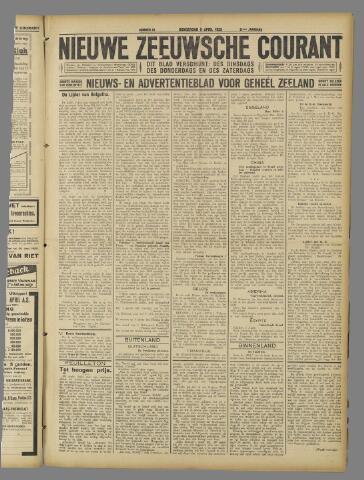 Nieuwe Zeeuwsche Courant 1925-04-09