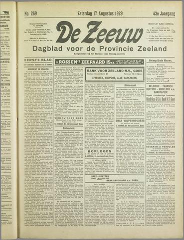 De Zeeuw. Christelijk-historisch nieuwsblad voor Zeeland 1929-08-17