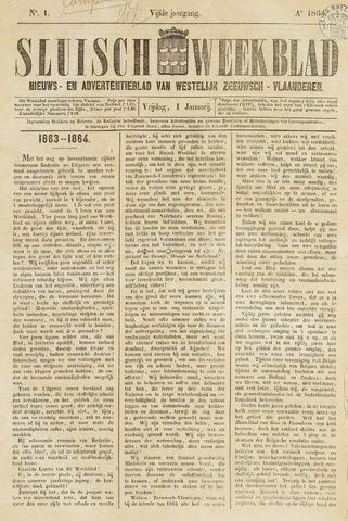 Sluisch Weekblad. Nieuws- en advertentieblad voor Westelijk Zeeuwsch-Vlaanderen 1864
