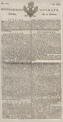 Middelburgsche Courant 1771-09-14