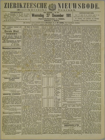 Zierikzeesche Nieuwsbode 1911-12-27