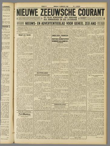 Nieuwe Zeeuwsche Courant 1929-08-13