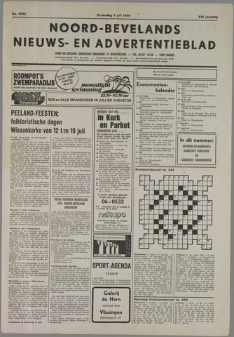 Noord-Bevelands Nieuws- en advertentieblad 1986-07-03