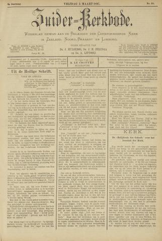 Zuider Kerkbode, Weekblad gewijd aan de belangen der gereformeerde kerken in Zeeland, Noord-Brabant en Limburg. 1897-03-05