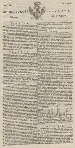 Middelburgsche Courant 1761-10-27