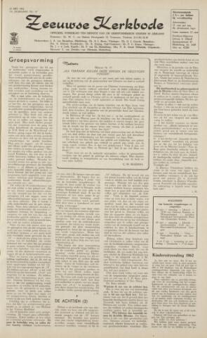 Zeeuwsche kerkbode, weekblad gewijd aan de belangen der gereformeerde kerken/ Zeeuwsch kerkblad 1962-05-25