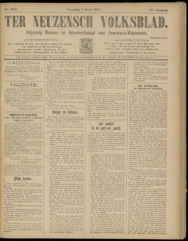 Ter Neuzensch Volksblad. Vrijzinnig nieuws- en advertentieblad voor Zeeuwsch- Vlaanderen / Zeeuwsch Nieuwsblad. Nieuws- en advertentieblad voor Zeeland 1916-03-08