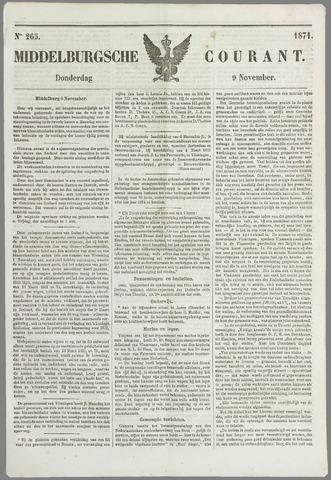 Middelburgsche Courant 1871-11-09