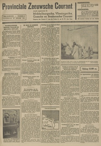 Provinciale Zeeuwse Courant 1941-01-25
