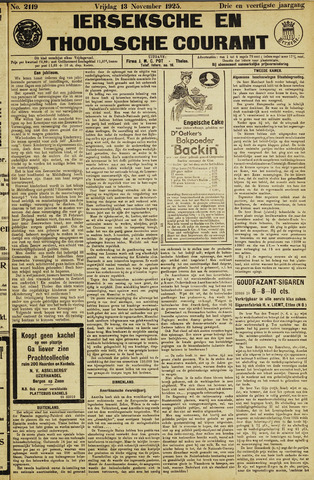 Ierseksche en Thoolsche Courant 1925-11-13