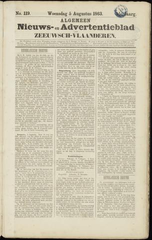 Ter Neuzensche Courant. Algemeen Nieuws- en Advertentieblad voor Zeeuwsch-Vlaanderen / Neuzensche Courant ... (idem) / (Algemeen) nieuws en advertentieblad voor Zeeuwsch-Vlaanderen 1863-08-05