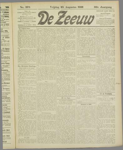 De Zeeuw. Christelijk-historisch nieuwsblad voor Zeeland 1916-08-25