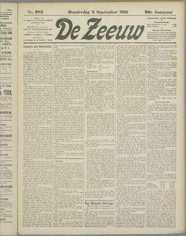 De Zeeuw. Christelijk-historisch nieuwsblad voor Zeeland 1915-09-02
