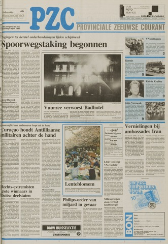 Provinciale Zeeuwse Courant 1992-04-06