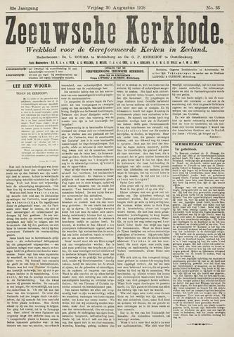 Zeeuwsche kerkbode, weekblad gewijd aan de belangen der gereformeerde kerken/ Zeeuwsch kerkblad 1918-08-30