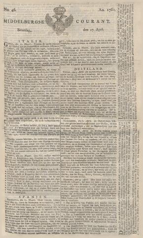 Middelburgsche Courant 1762-04-17