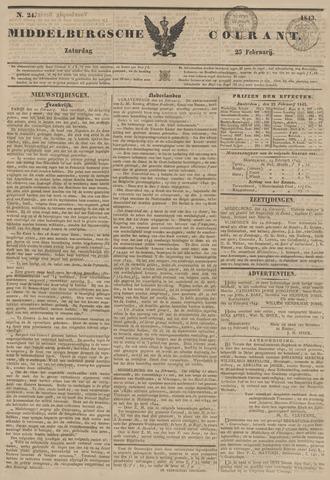 Middelburgsche Courant 1843-02-25
