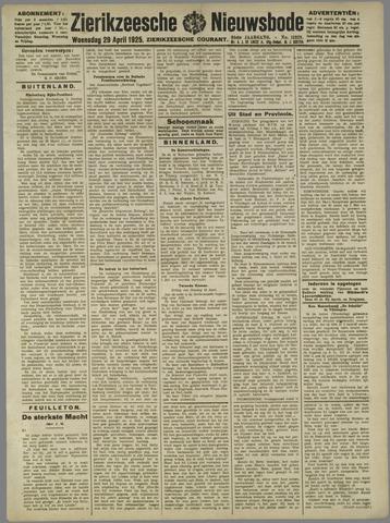 Zierikzeesche Nieuwsbode 1925-04-29
