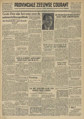 Provinciale Zeeuwse Courant 1949-11-11