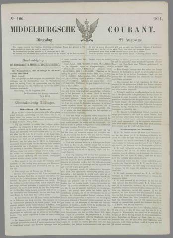 Middelburgsche Courant 1854-08-22