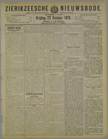Zierikzeesche Nieuwsbode 1915-10-22