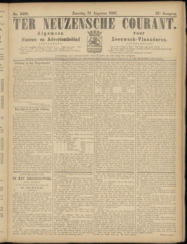 Ter Neuzensche Courant. Algemeen Nieuws- en Advertentieblad voor Zeeuwsch-Vlaanderen / Neuzensche Courant ... (idem) / (Algemeen) nieuws en advertentieblad voor Zeeuwsch-Vlaanderen 1897-08-21
