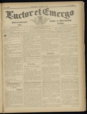Luctor et Emergo. Antirevolutionair nieuws- en advertentieblad voor Zeeland / Zeeuwsch-Vlaanderen. Orgaan ter verspreiding van de christelijke beginselen in Zeeuwsch-Vlaanderen 1916-10-07