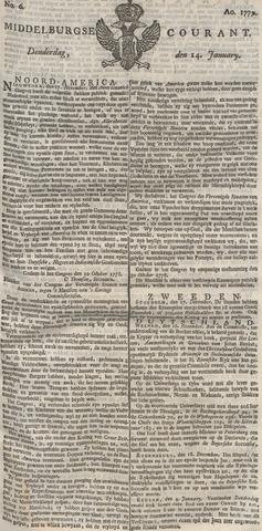 Middelburgsche Courant 1779-01-14