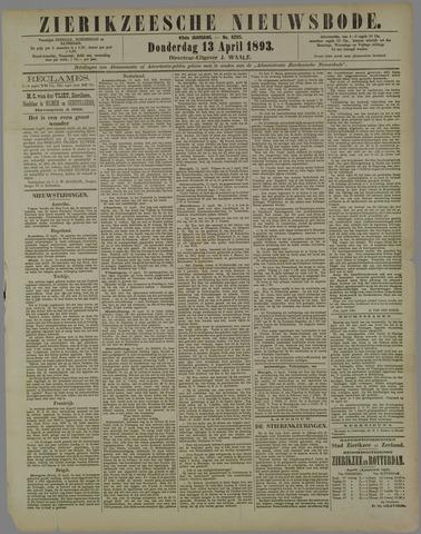 Zierikzeesche Nieuwsbode 1893-04-13