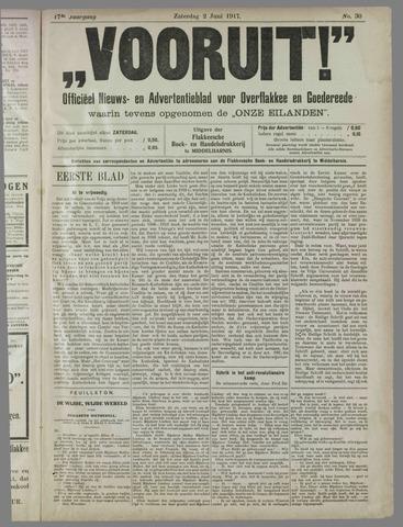 """""""Vooruit!""""Officieel Nieuws- en Advertentieblad voor Overflakkee en Goedereede 1917-06-02"""