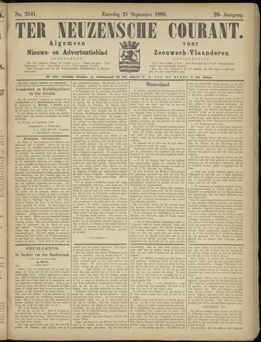 Ter Neuzensche Courant. Algemeen Nieuws- en Advertentieblad voor Zeeuwsch-Vlaanderen / Neuzensche Courant ... (idem) / (Algemeen) nieuws en advertentieblad voor Zeeuwsch-Vlaanderen 1889-09-21