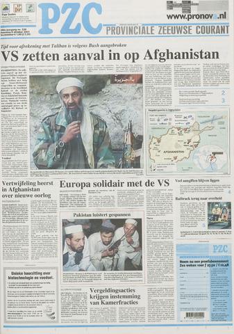 Provinciale Zeeuwse Courant 2001-10-08