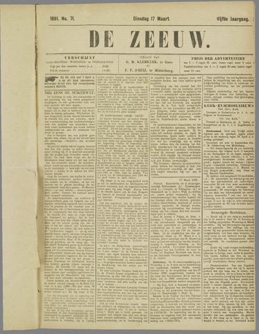 De Zeeuw. Christelijk-historisch nieuwsblad voor Zeeland 1891-03-17
