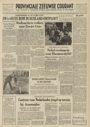 Provinciale Zeeuwse Courant 1961-10-24