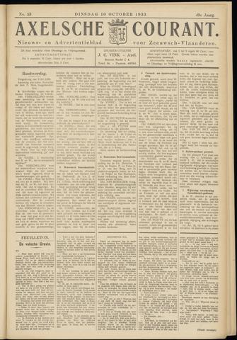 Axelsche Courant 1933-10-10
