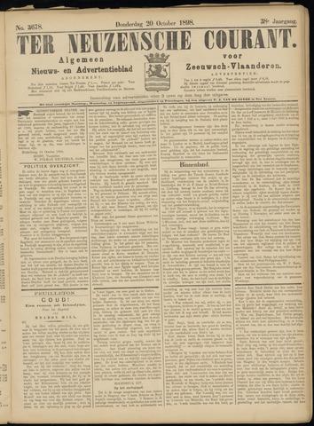Ter Neuzensche Courant. Algemeen Nieuws- en Advertentieblad voor Zeeuwsch-Vlaanderen / Neuzensche Courant ... (idem) / (Algemeen) nieuws en advertentieblad voor Zeeuwsch-Vlaanderen 1898-10-20