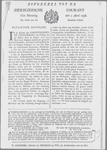 Zierikzeesche Courant 1798