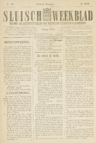Sluisch Weekblad. Nieuws- en advertentieblad voor Westelijk Zeeuwsch-Vlaanderen 1875-05-07