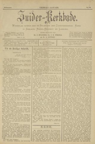 Zuider Kerkbode, Weekblad gewijd aan de belangen der gereformeerde kerken in Zeeland, Noord-Brabant en Limburg. 1897-01-01