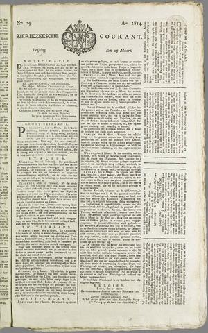 Zierikzeesche Courant 1814-03-25