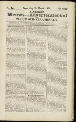 Ter Neuzensche Courant. Algemeen Nieuws- en Advertentieblad voor Zeeuwsch-Vlaanderen / Neuzensche Courant ... (idem) / (Algemeen) nieuws en advertentieblad voor Zeeuwsch-Vlaanderen 1862-03-19