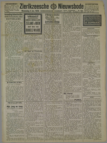Zierikzeesche Nieuwsbode 1928