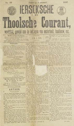 Ierseksche en Thoolsche Courant 1887