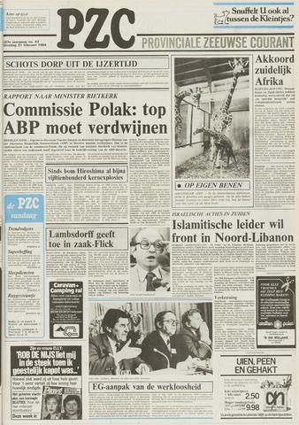 Provinciale Zeeuwse Courant 1984-02-21